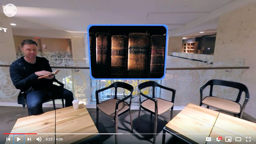 Virtual Reality video about the bible museum